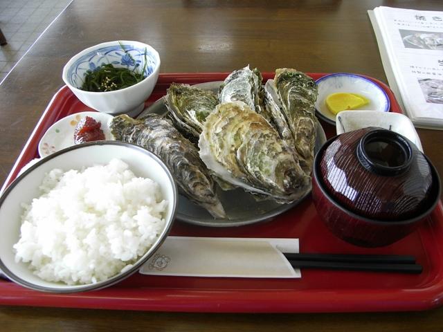 厚岸海産の牡蠣定食