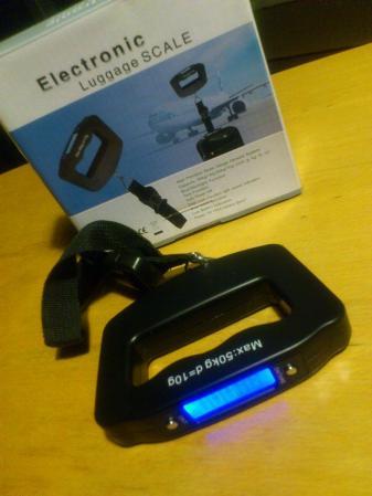 自転車重量測定用に、デジタル吊りはかり「Electronic Luggage Scale」購入!