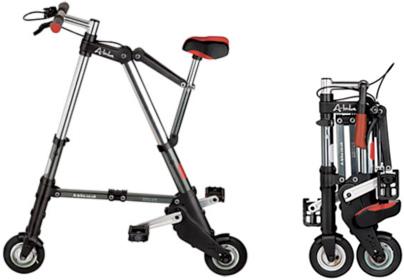 究極の小ささの折り畳み自転車、A-bike!!