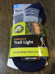 Bridgedaleのソックス(Endurance Trail Light)