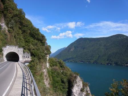 【改訂版】2012 スイスBD-1(birdy)サイクリングの旅(4日目-3:Lugano→Gandria)
