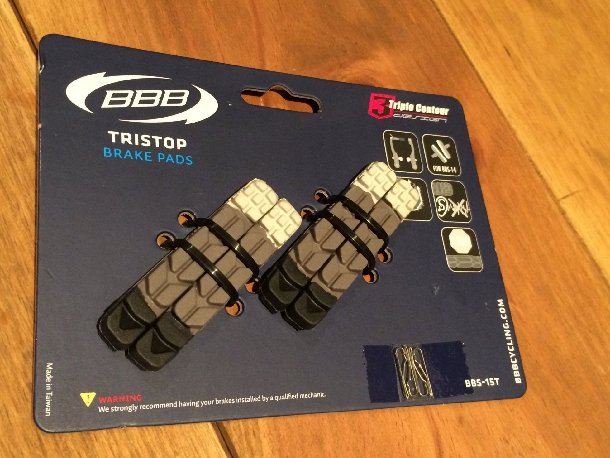 ブレーキシュー交換しました(BBB BBS-15T tristop)