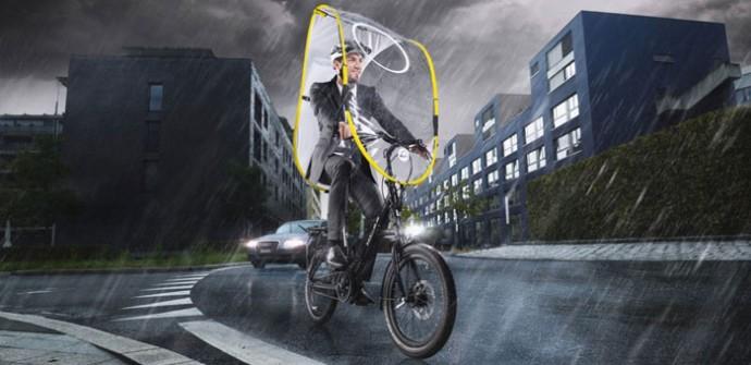 スイス発の自転車用雨除け透明ルーフ